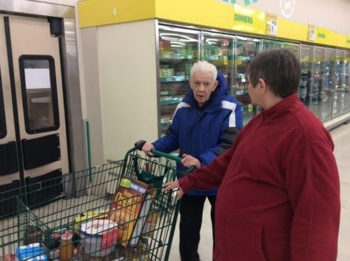 Connie received $500 from Skyline to take a resident grocery and clothes shopping